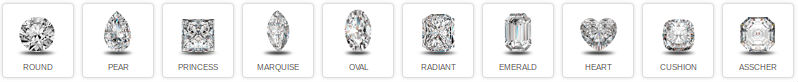 Diamond Shapes at Rumanoff's Jewelers