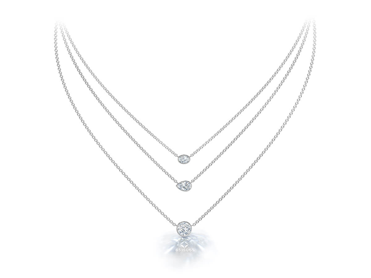 Image of Forevermark Pendants with inscription