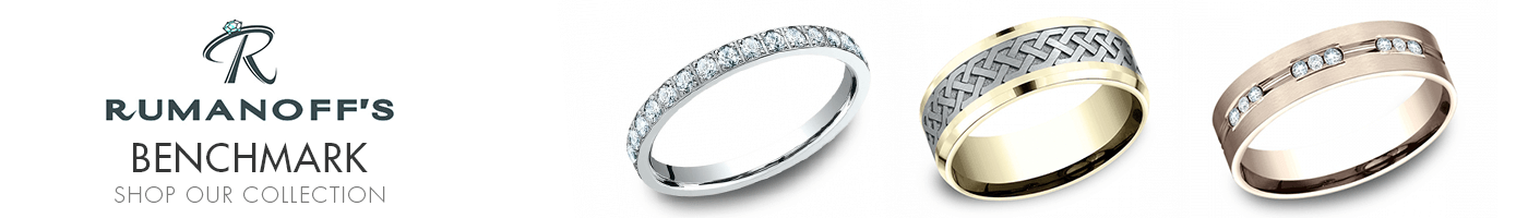 Benchmark wedding bands at Rumanoff's Fine Jewelry